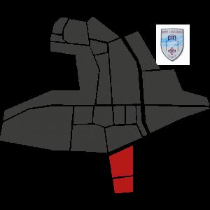 Mappa del rione Camuzzago con stemma