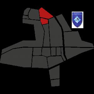 Mappa del rione Cantone con stemma