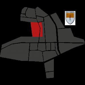 Mappa del rione Garibaldi con stemma