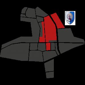 Mappa del rione San Martino con stemma